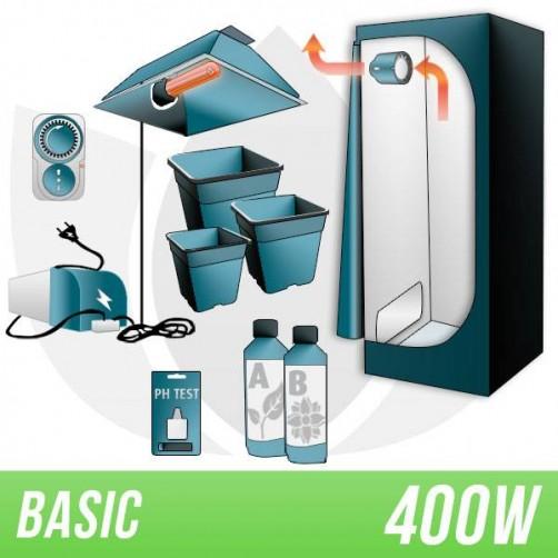 KIT INDOOR TERRA 400W + GROW BOX - BASIC